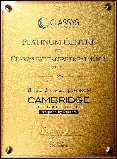 Cambridge Therapeutics Platinum Centre of Excellence award