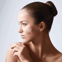 normal skin vs dry skin diagram