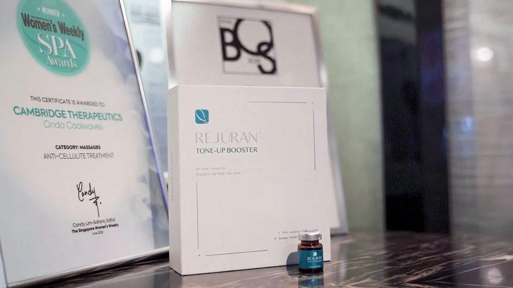 rejuran bottles at cambridge therapeutics